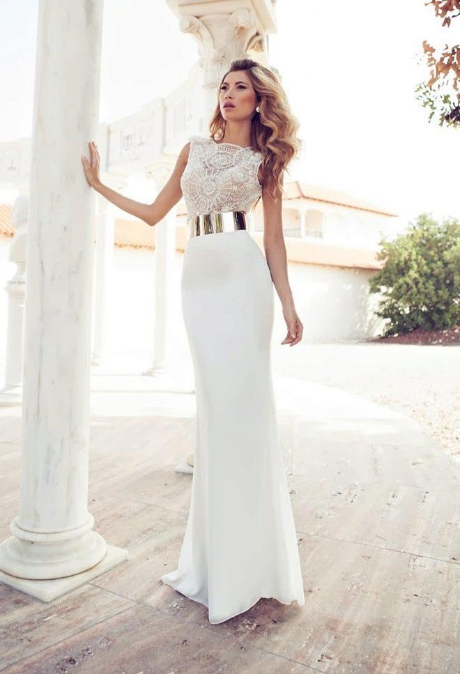 Длинное платье футляр