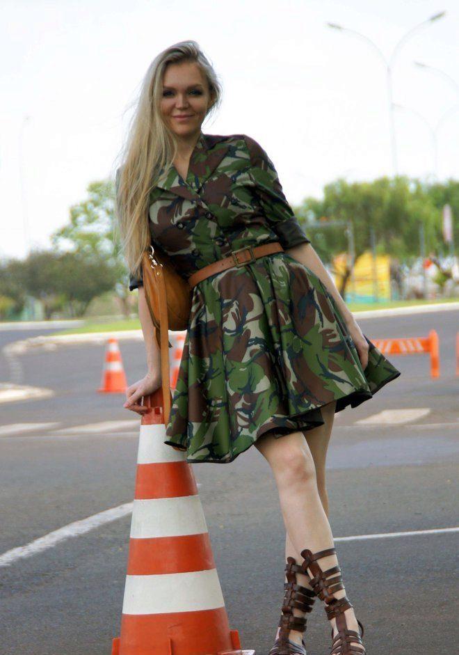 Платья камуфляжной расцветки