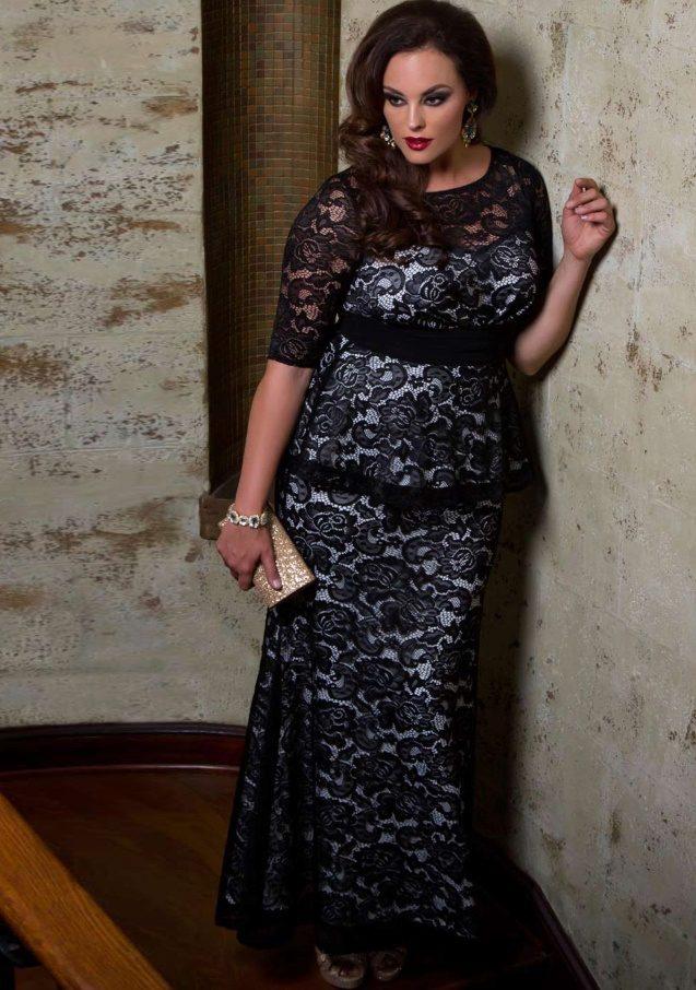 237560452f7cc14 Вечерние платья для полных девушек и женщин: длинные фасоны, с рукавами