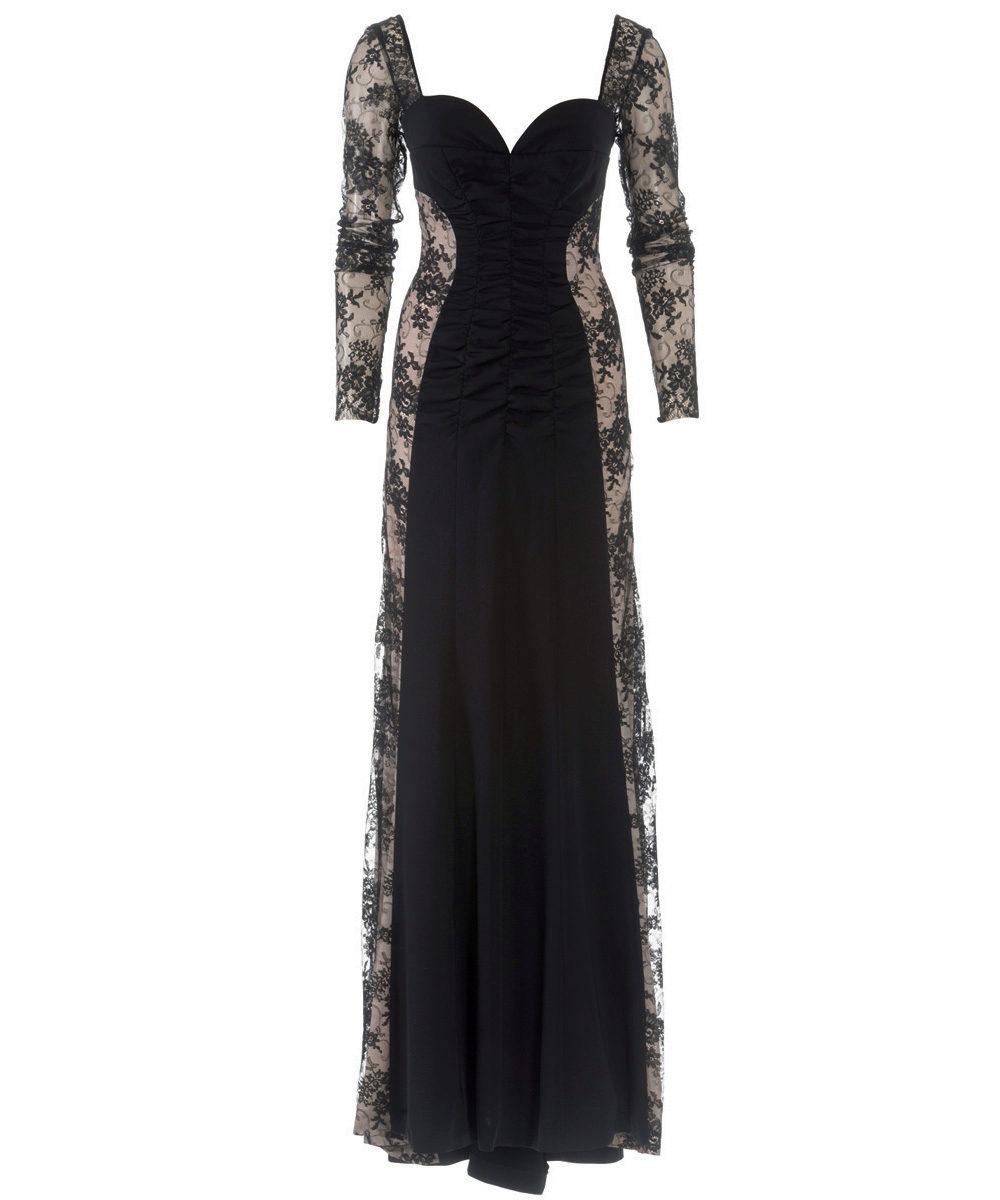 Выкройка вечернего платья в пол с одним рукавом фото 907