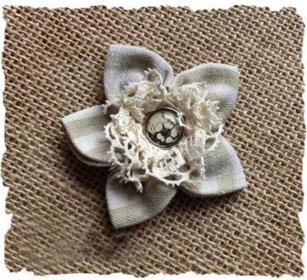 Цветок-брошь из ткани своими руками мастер класс