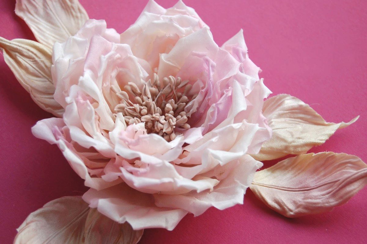 Брошь цветок из шифона своими руками фото 417