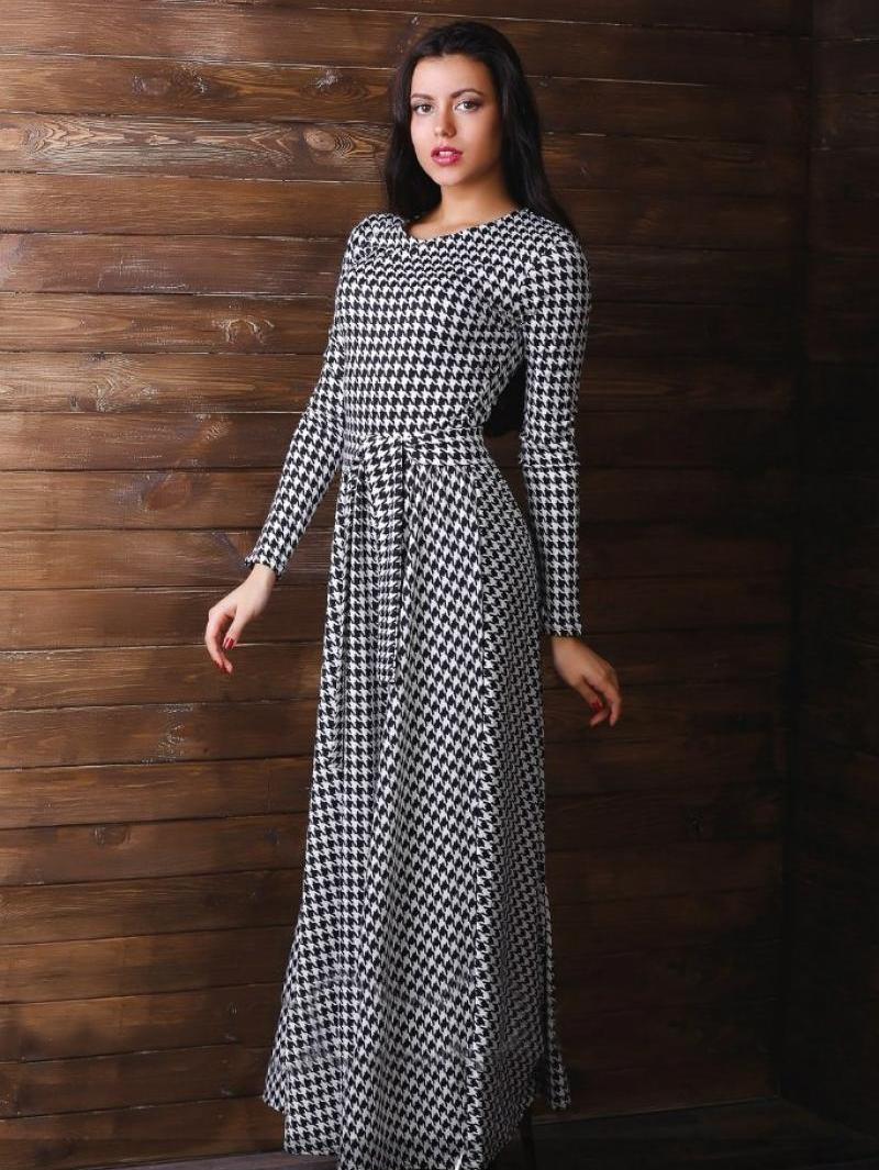 c1c1dba1ef9f066 Платье гусиные лапки: модели и фасоны с принтом гусиная лапка, с чем ...