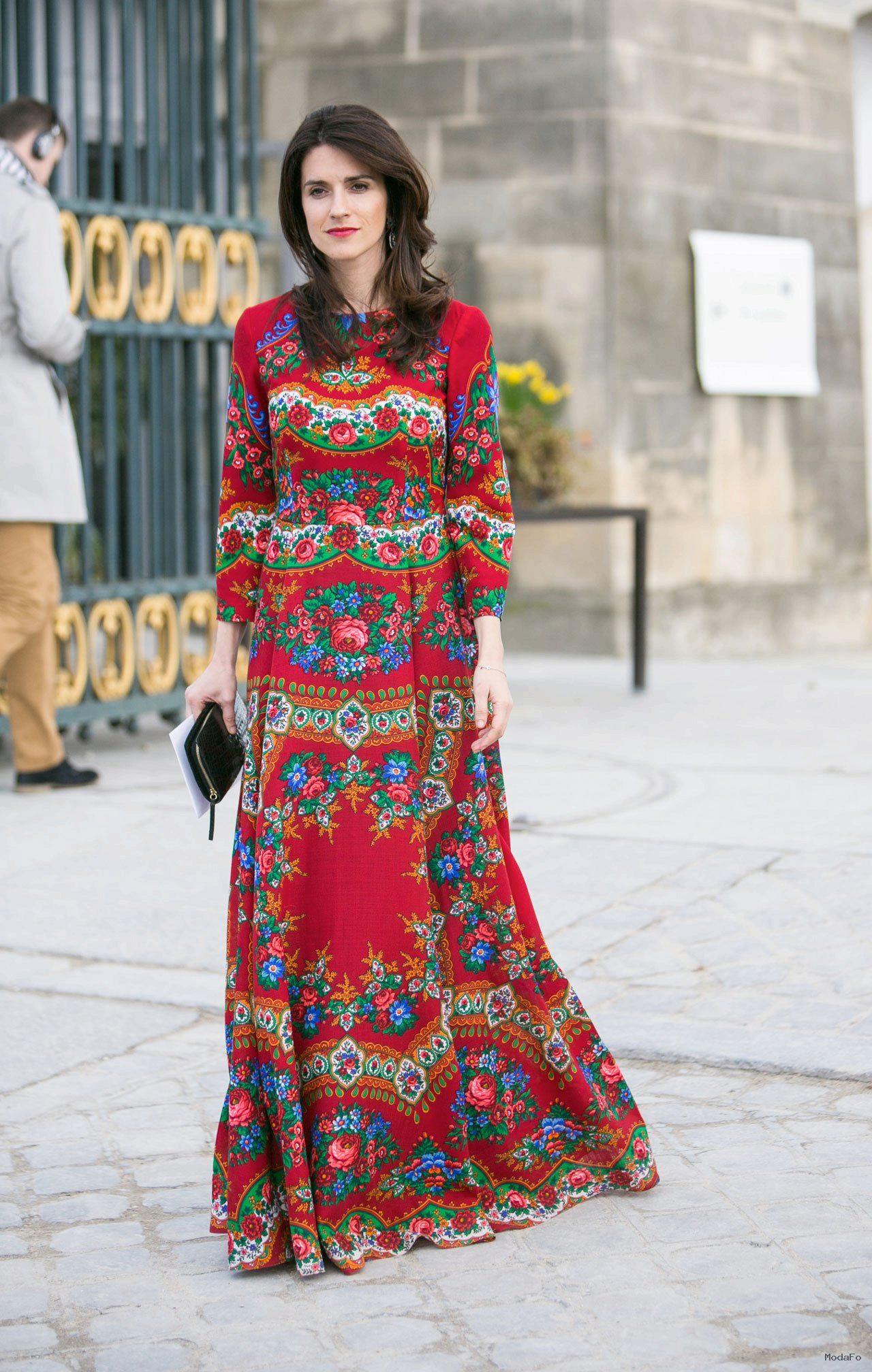 Модные платья в русском стиле