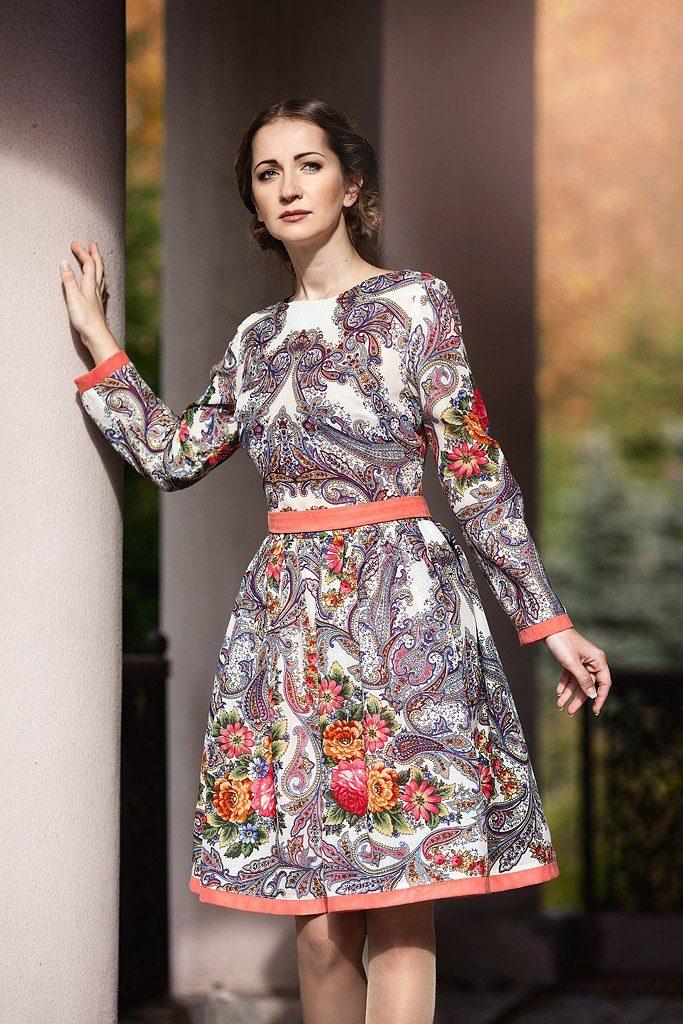 f46ac43b643 Платье в пол из двух платков - Модадром