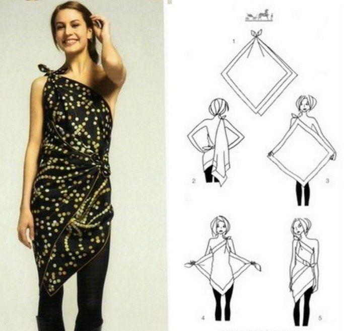 Сшить платья своими руками из платков своими руками