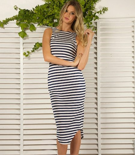 d160719f69f Трикотажное полосатое платье-майка