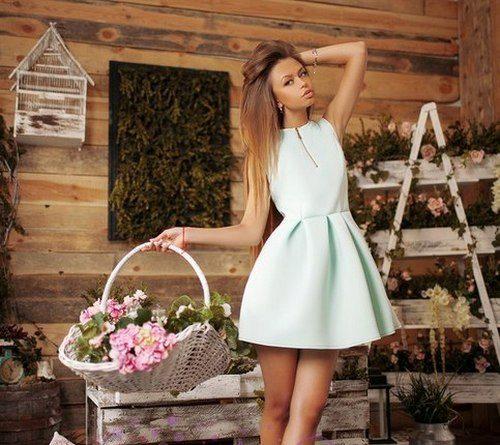 Платье юбка колокол фото
