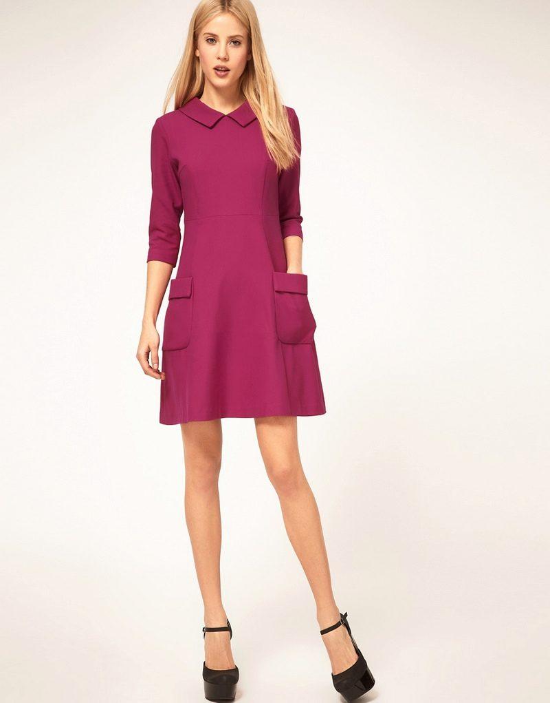 платье трапеция в стиле 60 х выкройка