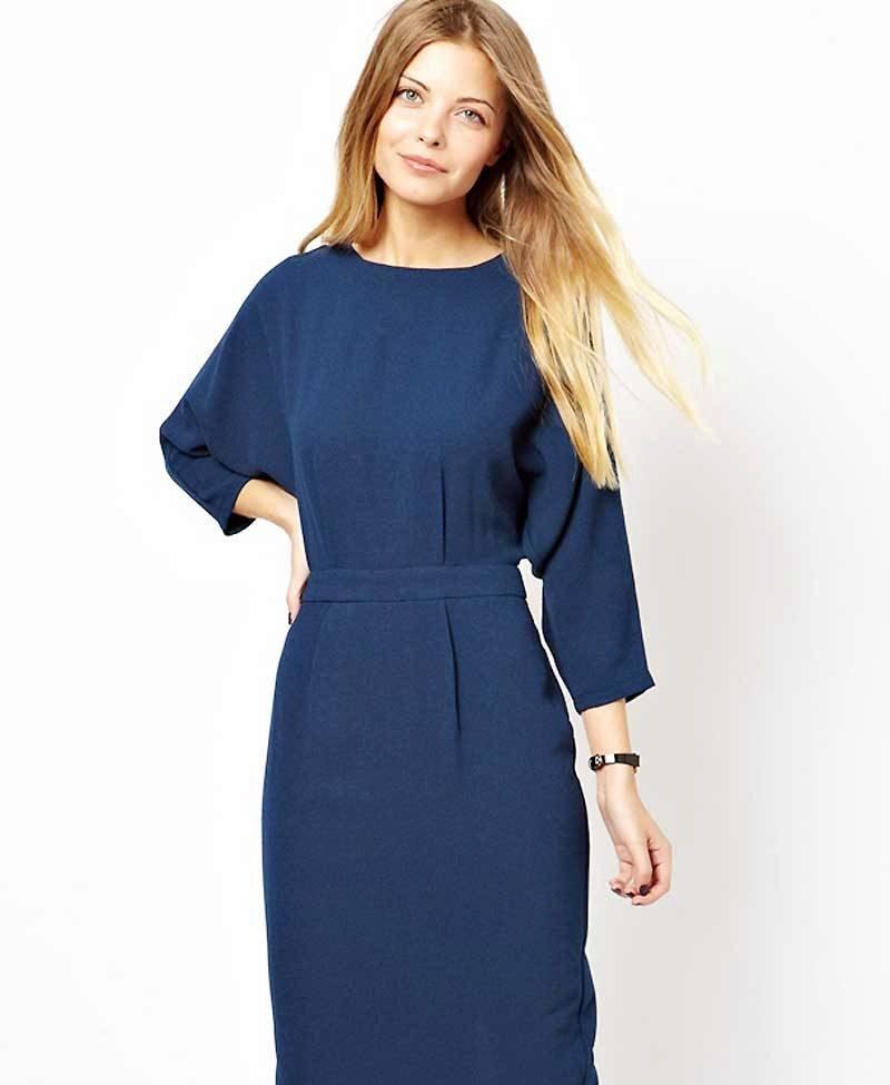 Платье из трикотажа с длинными рукавами своими руками
