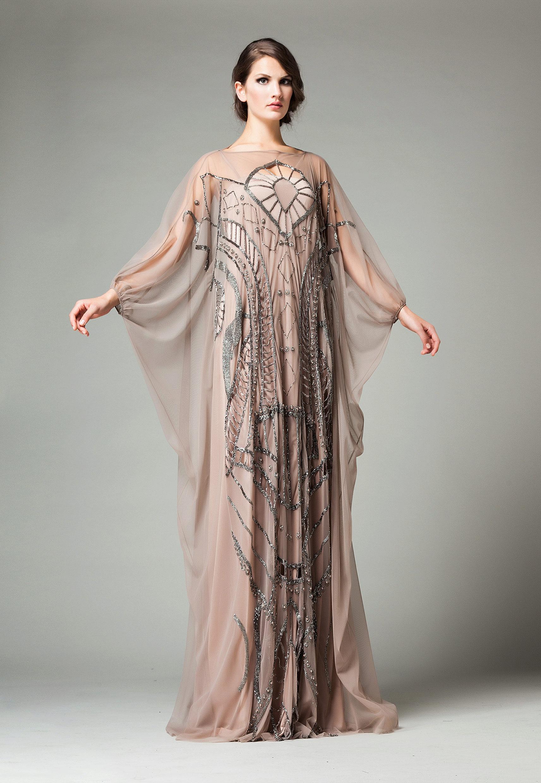 Эскиз женского платья летучая мышь