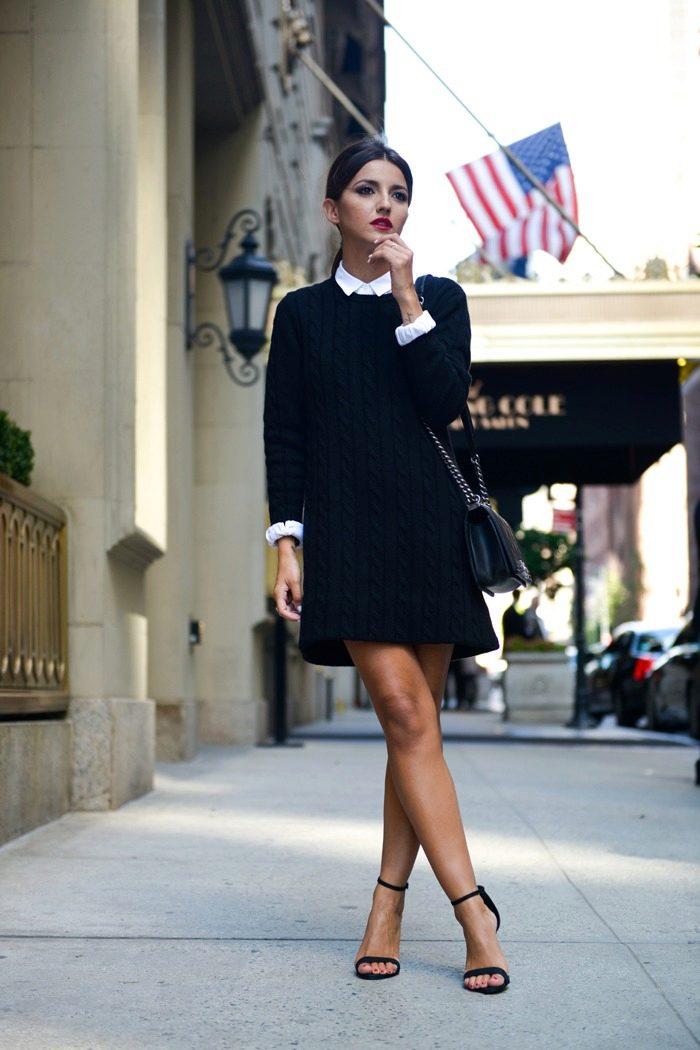 С чем носить платье-футляр без рукавов