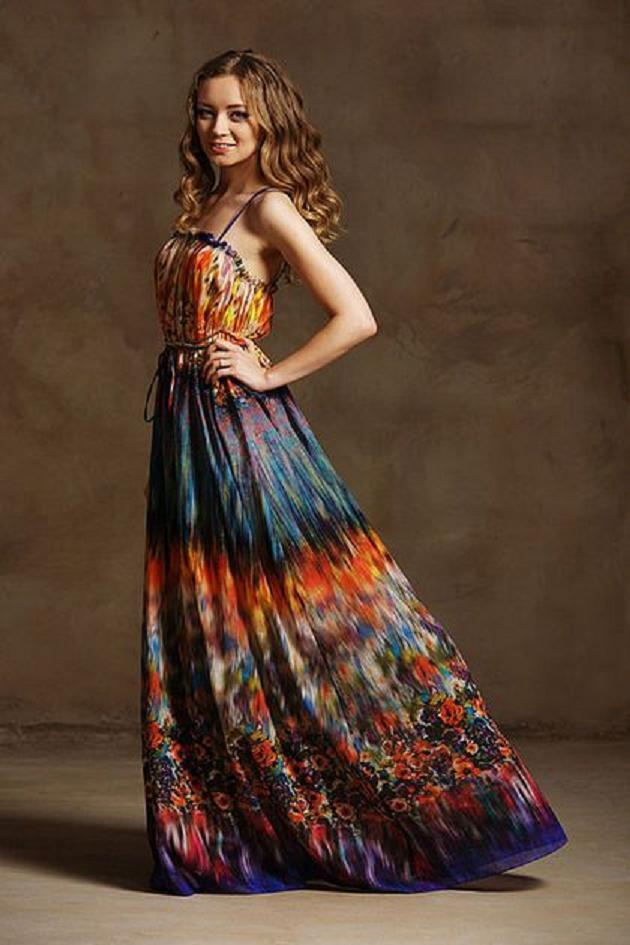 Длинные платье из батиста