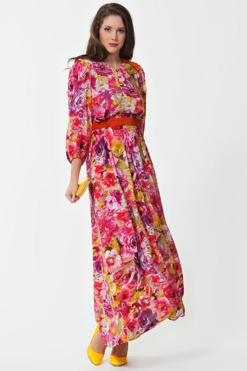 Платье с оборками летнее