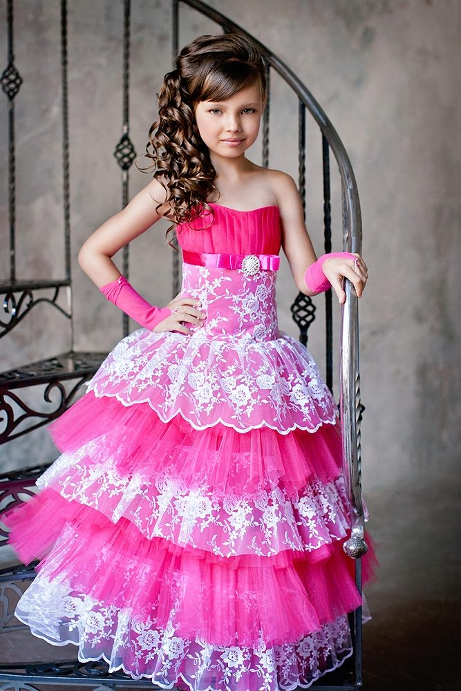 картинки вечерние платья для девочек
