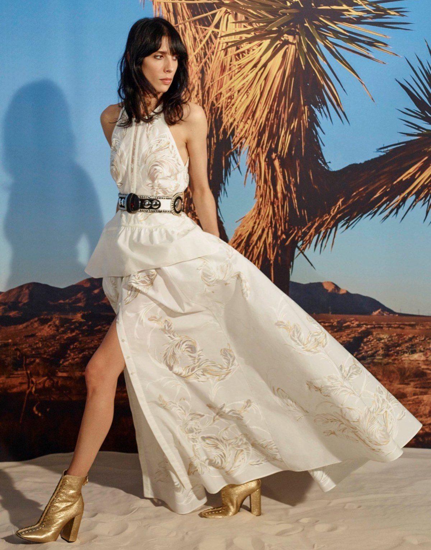 Платье Синее С Белыми Цветами