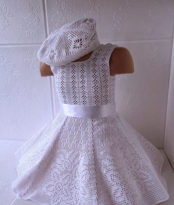 вязание крючком схема платья вязания