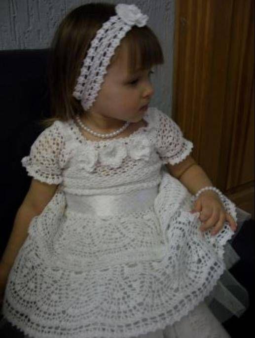 Платье для девочки крючком своими руками мастер класс