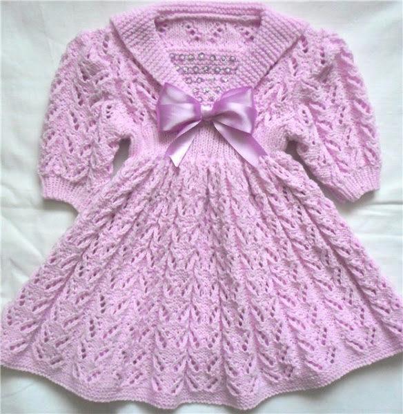 вязаное спицами платье для девочки схемы как связать красивые