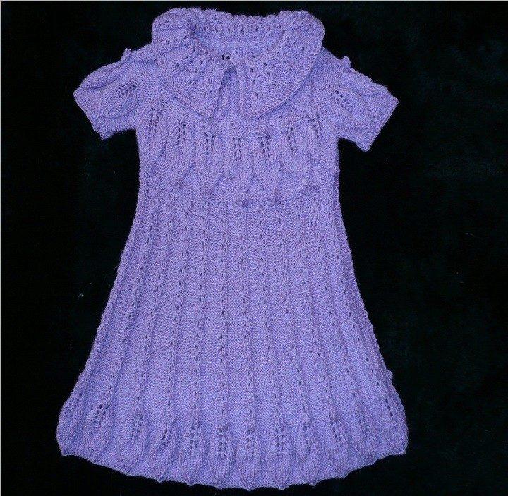 Ажурные узоры для платья для девочки