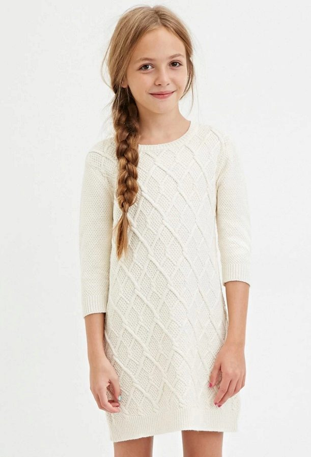 Вязаное спицами платье для девочки: схемы, как связать ...
