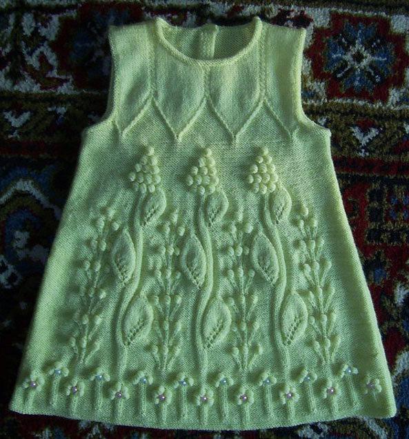 Схема вязаного сарафана спицами фото 993