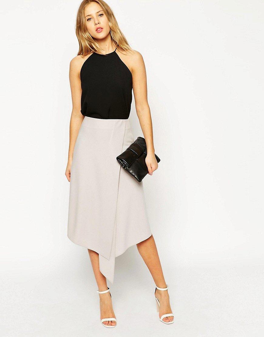 4958449e55d Асимметричные юбки (61 фото)  с чем носить