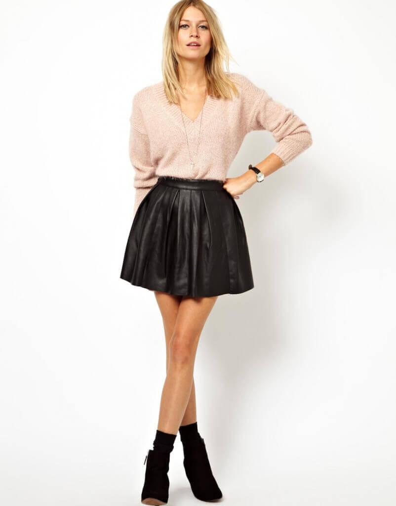 Фото блондинок в кожаных юбках фото 319-877