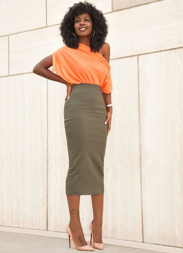 8ba493f2aba Длинная юбка карандаш (40 фото)  с чем носить и сочетать