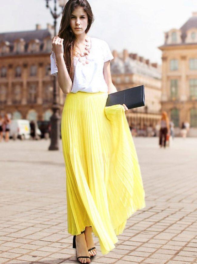 Летняя длинная юбка модели