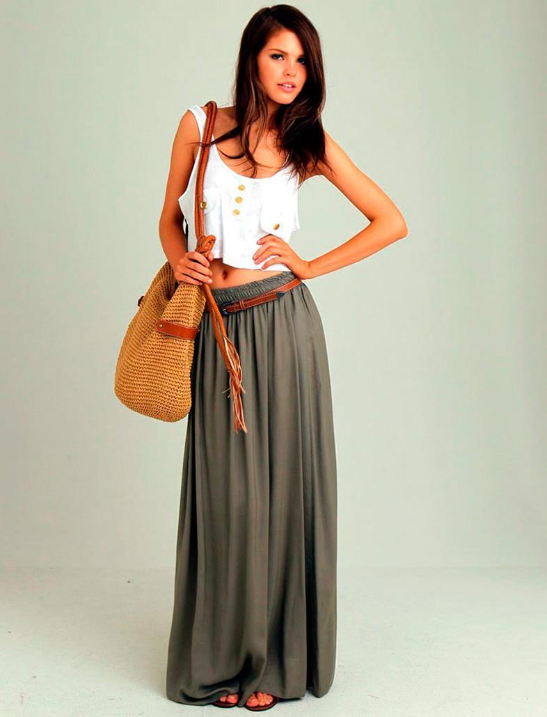 Длинные юбки сетка в пол