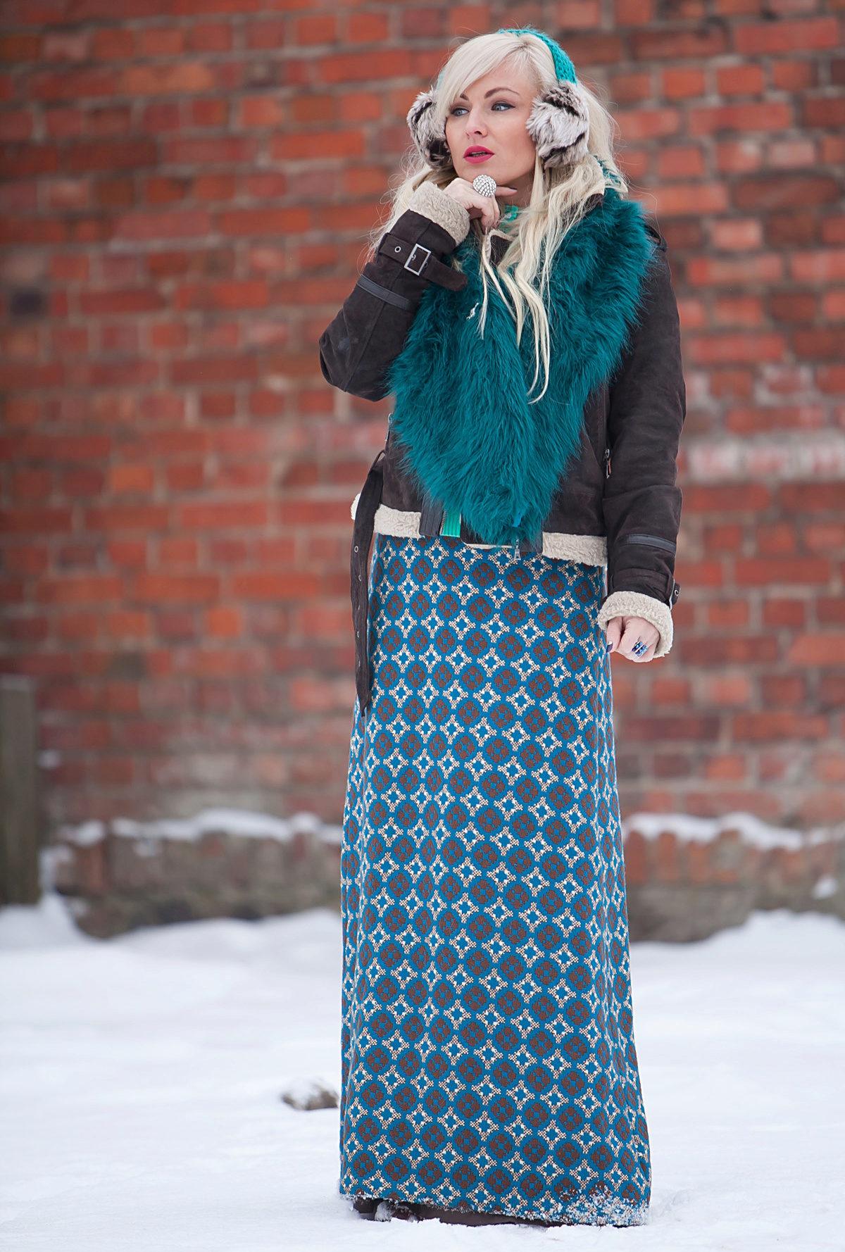Юбки в пол зима картинки