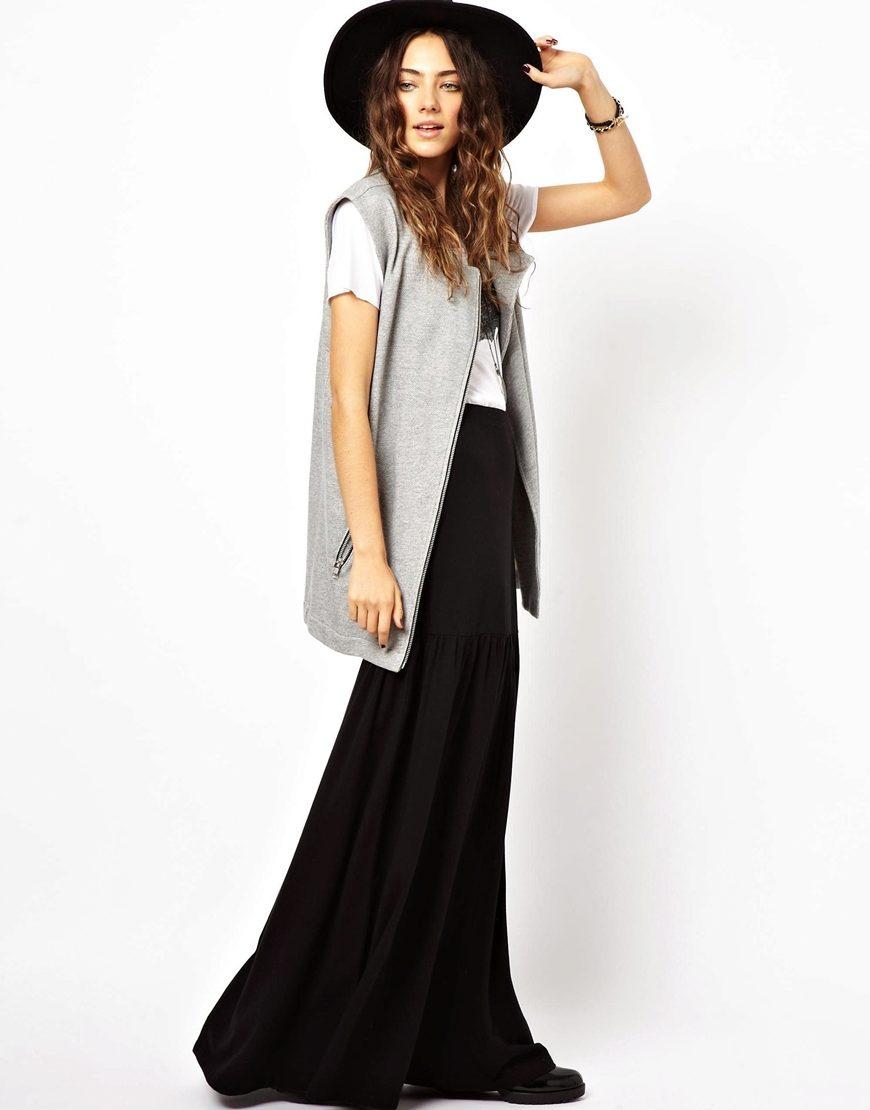 Длинные темные юбки фото