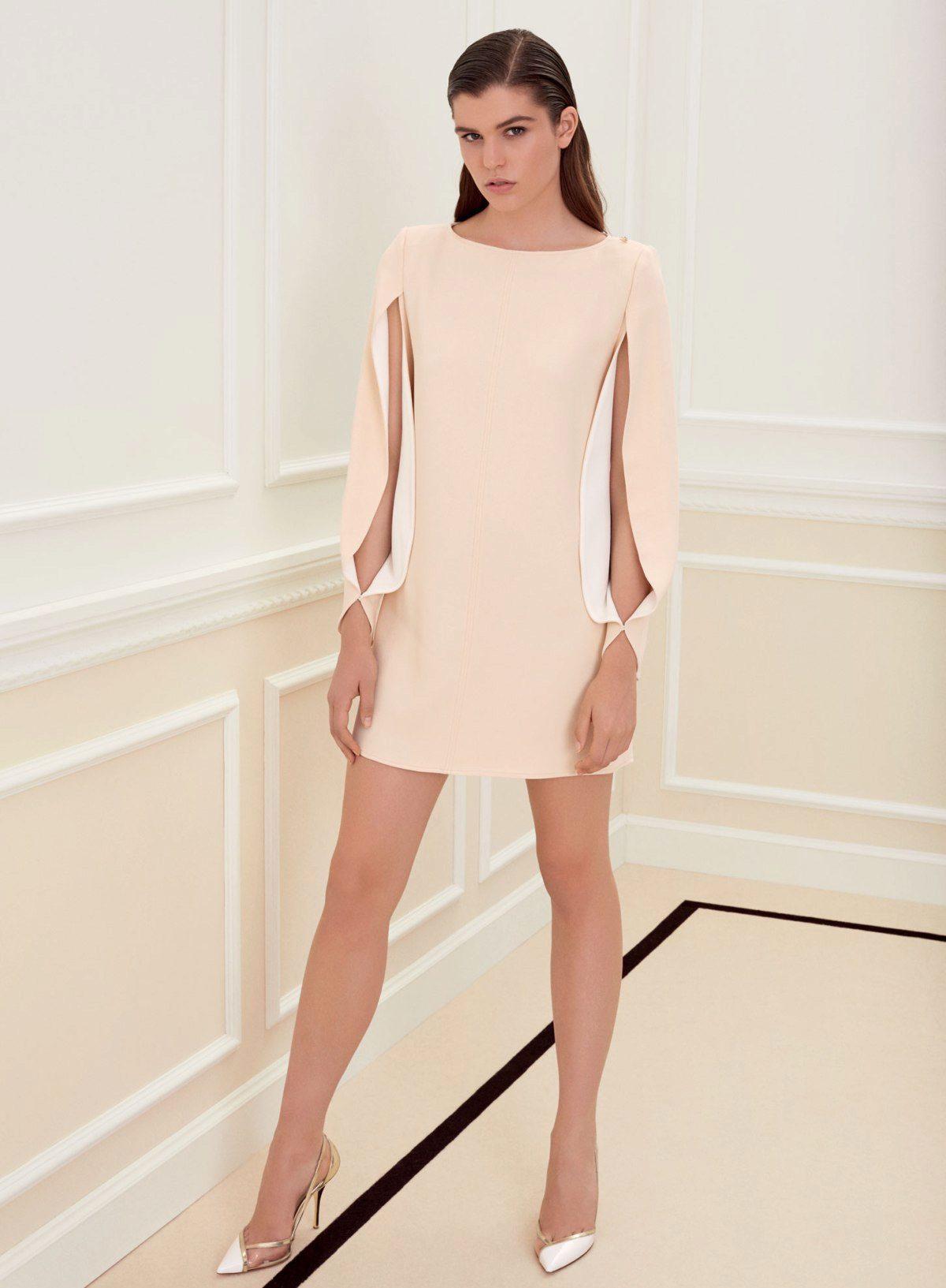 Сшить прямое платье с рукавами