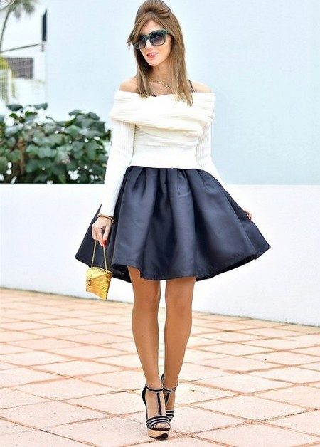 Короткая пышная юбка
