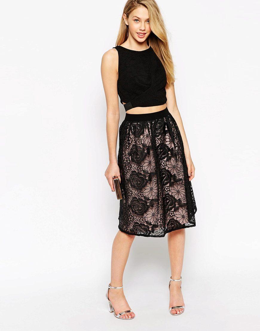 Пышные черные юбки