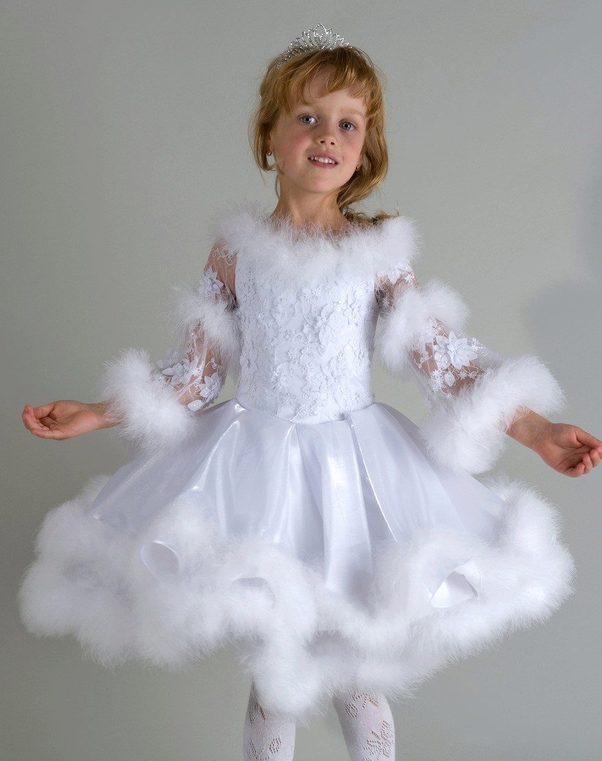 Новогоднее платье Снежинка для девочки