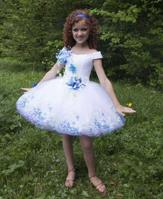 Пышные короткие платья для девочек фото