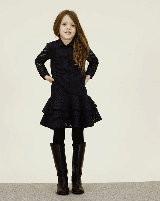 e07dbc2e62bf Теплые зимние платья для девочек (40 фото): вязаные и трикотажные ...