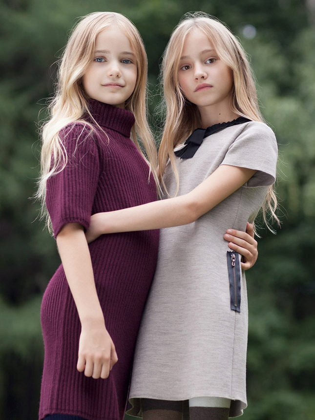 Теплые туники для девочек