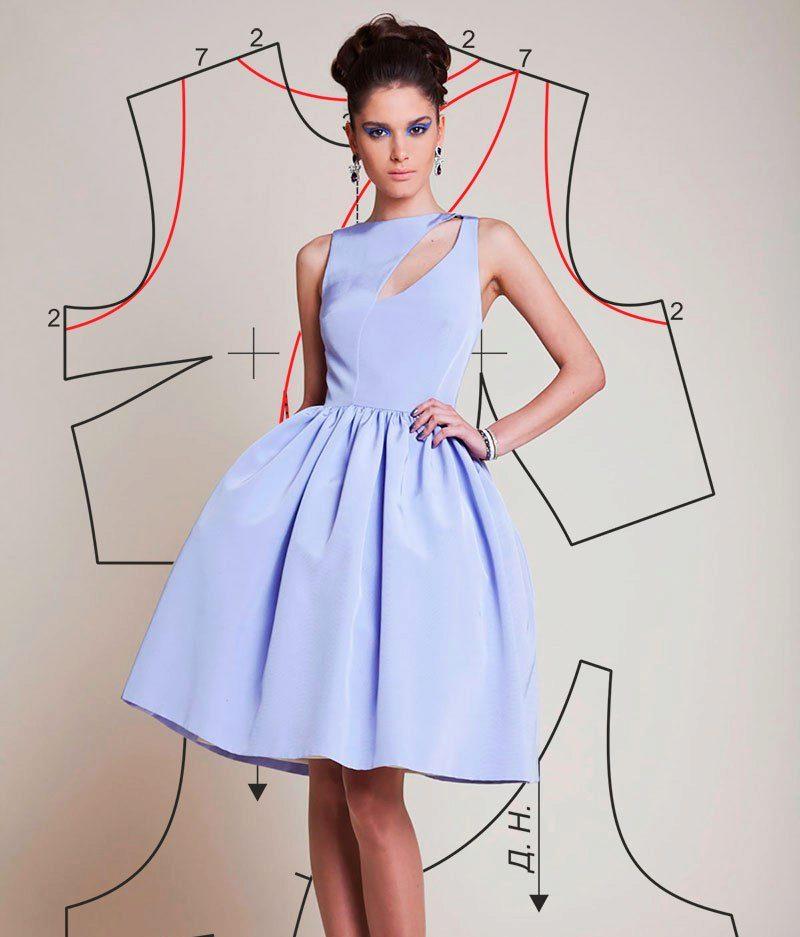 0695f49d0b3edce Выкройки платьев: как сделать своими руками, простые выкройки для ...