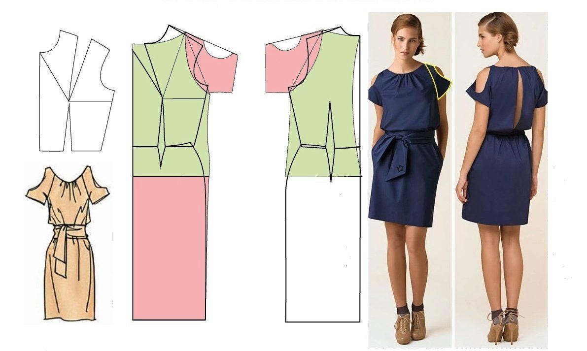 Простые вытачки на платье