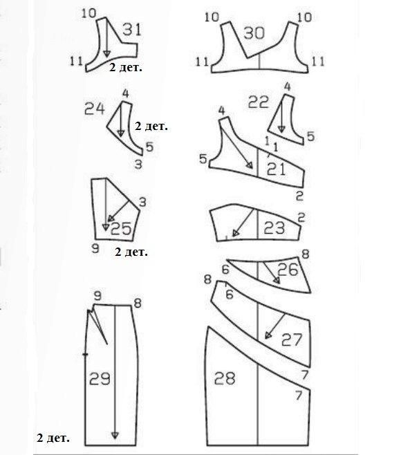 Как сшить чехол для платья выкройка 90