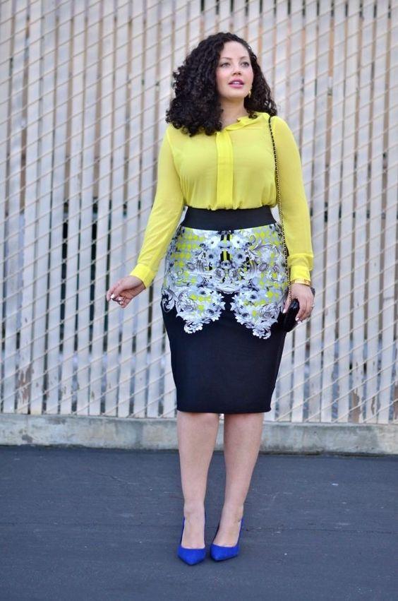 Как выбрать юбку для полной женщины