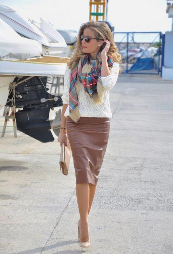 Модный образ с юбкой