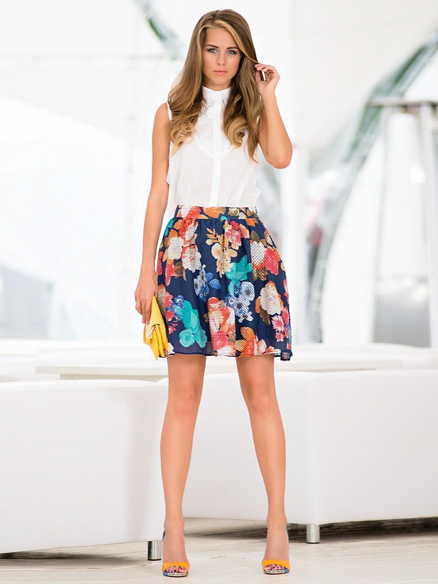 с цветами носить фото юбки чем с
