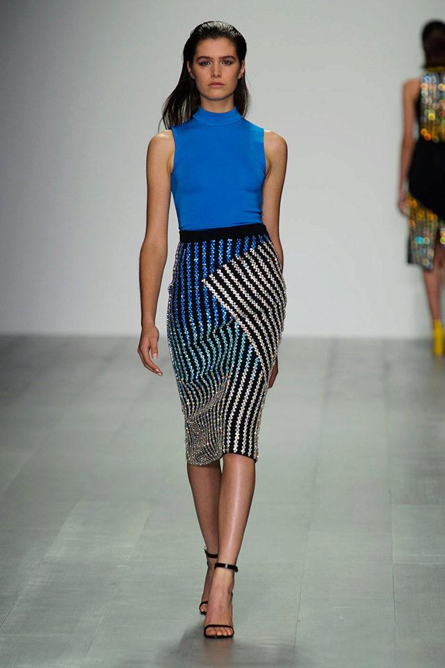 облегающая юбка с оригинальными полосами