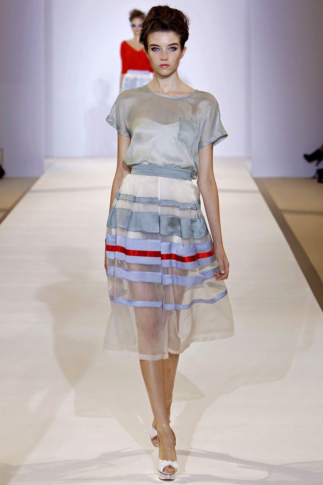 юбка в прозрачную полоску