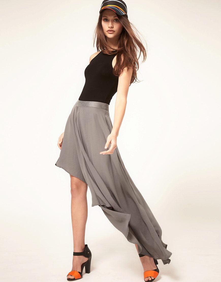 Юбки с длинным шлейфом