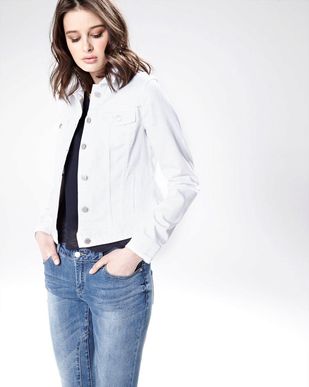 Белая джинсовая куртка рекомендации